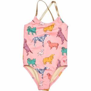 Pink Chicken Baby Belle One Piece - Rose w/Dogs